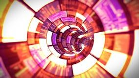 3D vlucht in de rode optische tunnelgegevens - verwerking stock videobeelden