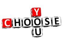 3D você escolhe palavras cruzadas Imagem de Stock