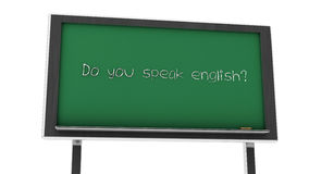 3d você fala a ardósia inglesa ilustração do vetor