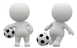 3d voetballer, geeft, 3d illustratie terug vector illustratie