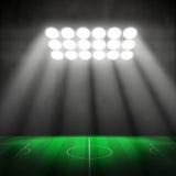 3D Voetbalstadion Stock Afbeeldingen