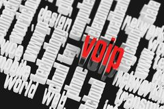 3d VOIP Wordcloud Internet Concept Stock Image