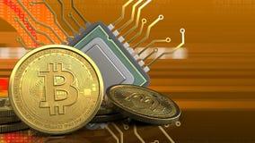 3d von CPU Stockfoto
