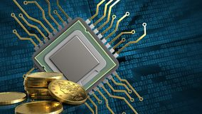 3d von CPU Lizenzfreie Stockfotografie