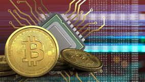 3d von CPU Lizenzfreies Stockfoto