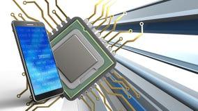 3d von CPU Lizenzfreie Stockfotos