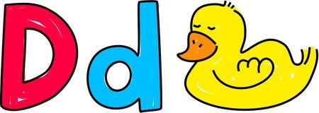 D is voor eend royalty-vrije illustratie
