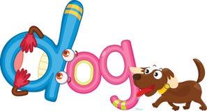 D voor hond royalty-vrije illustratie
