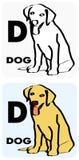 D voor hond Stock Foto