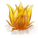 3D voorwerp van het glas op een wit Royalty-vrije Stock Foto