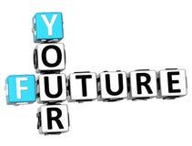 3D vos futurs mots croisé Image libre de droits