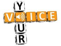 3D vos mots croisé de voix sur le fond blanc Photos libres de droits
