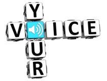 3D votre texte de bloc de mots croisé de voix Photo libre de droits