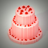 3D voxel cake Royalty Free Stock Photo