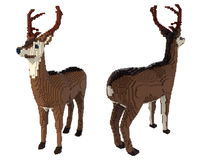 3d voxel deer Stock Images