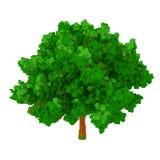 3d voxel drzewo Zdjęcia Royalty Free