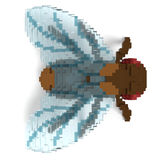 3d voxel fly Royalty Free Stock Image