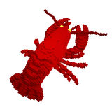 3d voxel lobster Stock Images