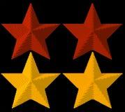 3d voxel stars Stock Image