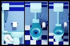 3d voxel toilet Stock Images