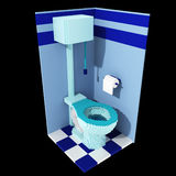 3d voxel toilet Royalty Free Stock Image