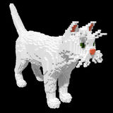 3d voxel white cat Stock Photos