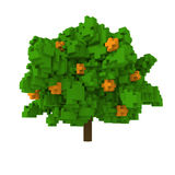 3d voxelsinaasappel tre Royalty-vrije Stock Afbeeldingen