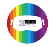 3D VR-Embleem Stock Foto