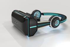 3d VR rzeczywistości wirtualnej słuchawki ilustracja wektor