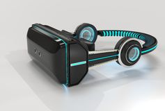 3d VR Virtual Reality Headset. A 3d rendering of a VR headset I created in Cinema 4d and rendered in Keyshot vector illustration