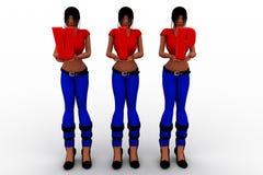 3d vrouwen met vip Stock Fotografie