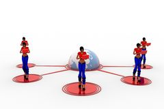 3d Vrouwenlaptop Overdracht van Wifi Royalty-vrije Stock Foto