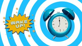 3d Wake up concept stock illustration