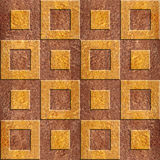 3D wall decorative tiles - Decorative paneling pattern. Interior Design wallpaper - Abstract checkered pattern - continuous replication - seamless background Royalty Free Stock Photo