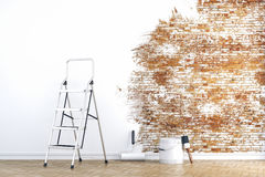 3d wall - work in progress. Concept stock illustration