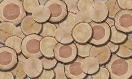 3d wallpaper, Tree Circle Texture, close-up. 3d wallpaper, wood texture of cut tree trunk, close-up. Wood slice texture tree circle cut raw material set detail royalty free stock photo
