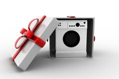 3d  washing machine gift Royalty Free Stock Photos