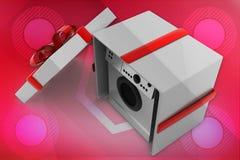 3d  washing machine gift illustration Stock Photography