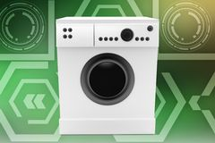 3d washing machine illustration Stock Photos