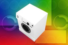 3d washing machine illustration Stock Photo