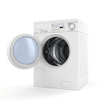 3d washing machine Royalty Free Stock Images