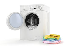3d washing machine Royalty Free Stock Photography