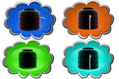 3d water storage tank icon Stock Photography