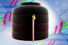 3d water storage tank illustration Stock Photo