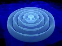 3D waveform fractal Stock Photo