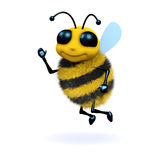 3d Waving bee. 3d render of a bee waving his hand in greeting Royalty Free Stock Photography