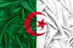 3d waving flag of Algeria. Silk fabric texture Royalty Free Stock Photo