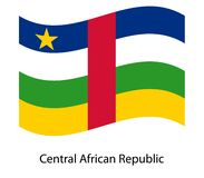 3D Waving Flag of Central African Republic royalty free illustration