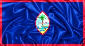 3d waving flag of Guam stock illustration