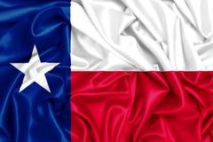 3d waving flag of Texas. USA states set- 3d waving flag of Texas, silk fabric texture Royalty Free Stock Photos